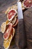 Fatias de citrino secado Imagem de Stock