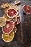Fatias de citrino secado Fotos de Stock Royalty Free