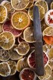 Fatias de citrino secado Foto de Stock