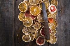Fatias de citrino secado Imagens de Stock
