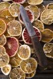Fatias de citrino secado Fotografia de Stock Royalty Free