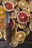 Fatias de citrino secado Foto de Stock Royalty Free
