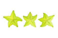 Fatias de fruta de estrela foto de stock