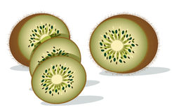 Fatias de fruta de quivi Imagens de Stock Royalty Free