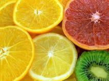 Fatias de frutas Fotografia de Stock