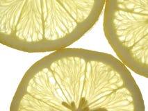 Fatias de limão amarelo Fotos de Stock Royalty Free