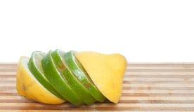 Fatias de limão e de cal Fotografia de Stock Royalty Free