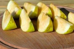 Fatias de maçãs Imagem de Stock Royalty Free