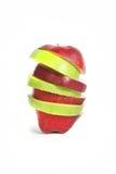Fatias de maçãs Fotografia de Stock