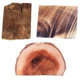 Fatias de madeira Imagem de Stock Royalty Free