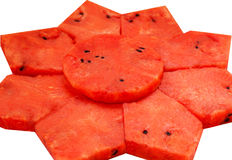 Fatias de melancia Foto de Stock