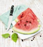 Fatias de melancia Fotos de Stock