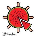 Fatias de melancia Imagens de Stock
