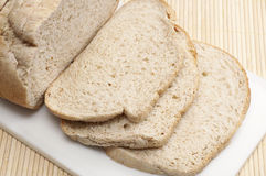 Fatias de pão. Foto de Stock Royalty Free