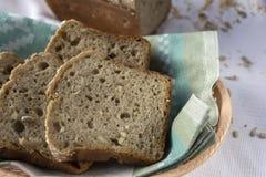 Fatias de pão caseiro sem glúten Imagem de Stock