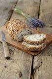 Fatias de pão da grão Fotografia de Stock