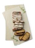 Fatias de pão marrom Fotografia de Stock