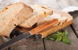 Fatias de pão preto fotografia de stock