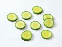 Fatias de pepino verde Fotografia de Stock Royalty Free