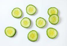 Fatias de pepino verde Imagem de Stock