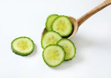 Fatias de pepino verde Fotografia de Stock