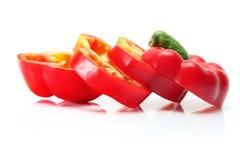 Fatias de pimenta de Bell fotos de stock