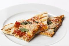 Fatias de pizza caseiro do margarita Imagens de Stock Royalty Free