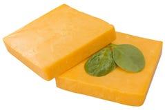 Fatias de queijo Cheddar Foto de Stock Royalty Free