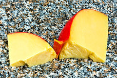 Fatias de queijo do Edam Foto de Stock Royalty Free