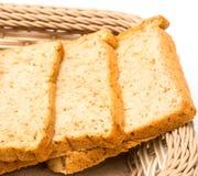 Fatias de refeição e de ruptura da manhã das mostras do pão foto de stock