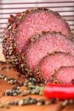 Fatias de salami foto de stock royalty free