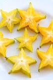Fatias de Starfruit Imagens de Stock Royalty Free