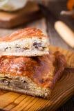 Fatias de torta da couve e do cogumelo com queijo Foto de Stock Royalty Free