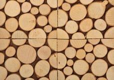 Fatias de madeira como o fundo Imagem de Stock Royalty Free