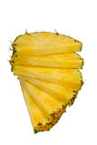 Fatias do abacaxi Fotografia de Stock