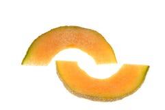 Fatias do Cantaloupe imagem de stock