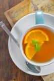 Fatias do chá e da laranja Foto de Stock