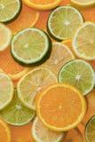 Fatias do citrino Imagem de Stock
