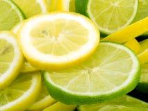 Fatias do limão e do cal Fotos de Stock Royalty Free
