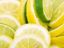 Fatias do limão e do cal Fotos de Stock