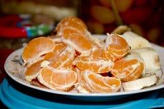 Fatias do mandarino Imagens de Stock Royalty Free