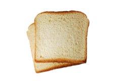 Fatias do pão do brinde isoladas Fotos de Stock