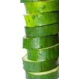 Fatias do pepino em detalhe Imagem de Stock Royalty Free