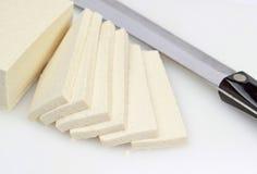 Fatias do Tofu foto de stock royalty free