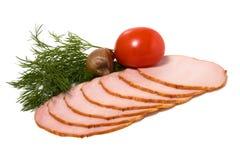 Fatias do vegetal e da carne Fotos de Stock