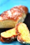Fatias doces do pão, composição vertical fotos de stock