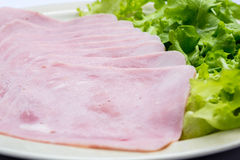Fatias frescas de presunto da carne de porco Foto de Stock