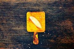 Fatias frescas do melão do cantalupo em um fundo escuro Imagens de Stock