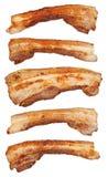 Fatias fritadas do bacon Fotos de Stock Royalty Free