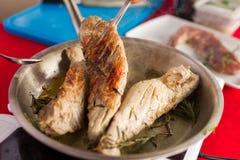 Fatias Roasted de faixa da carne de porco Fotos de Stock Royalty Free